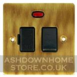 Flat Plate Antique Bronze Fused Spur Switches